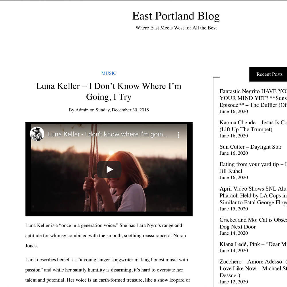 Luna Keller - East Portland Blog