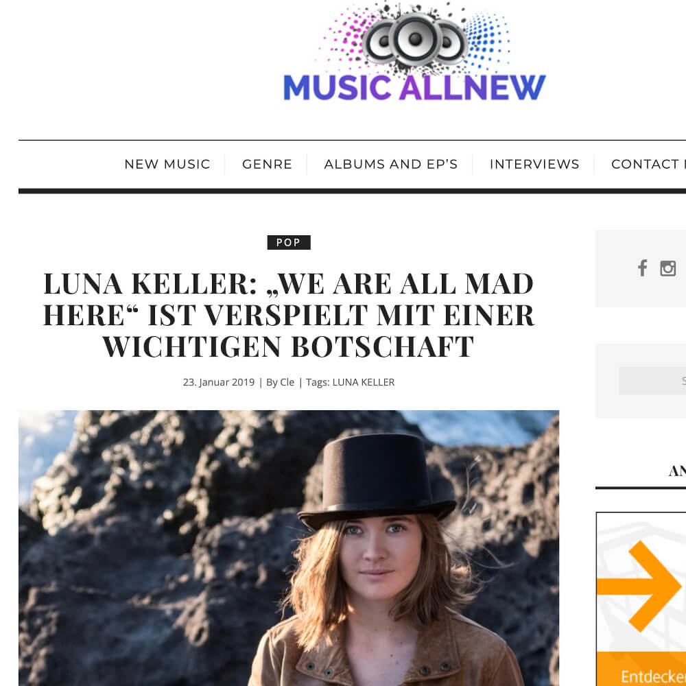 Luna Keller - Music all new