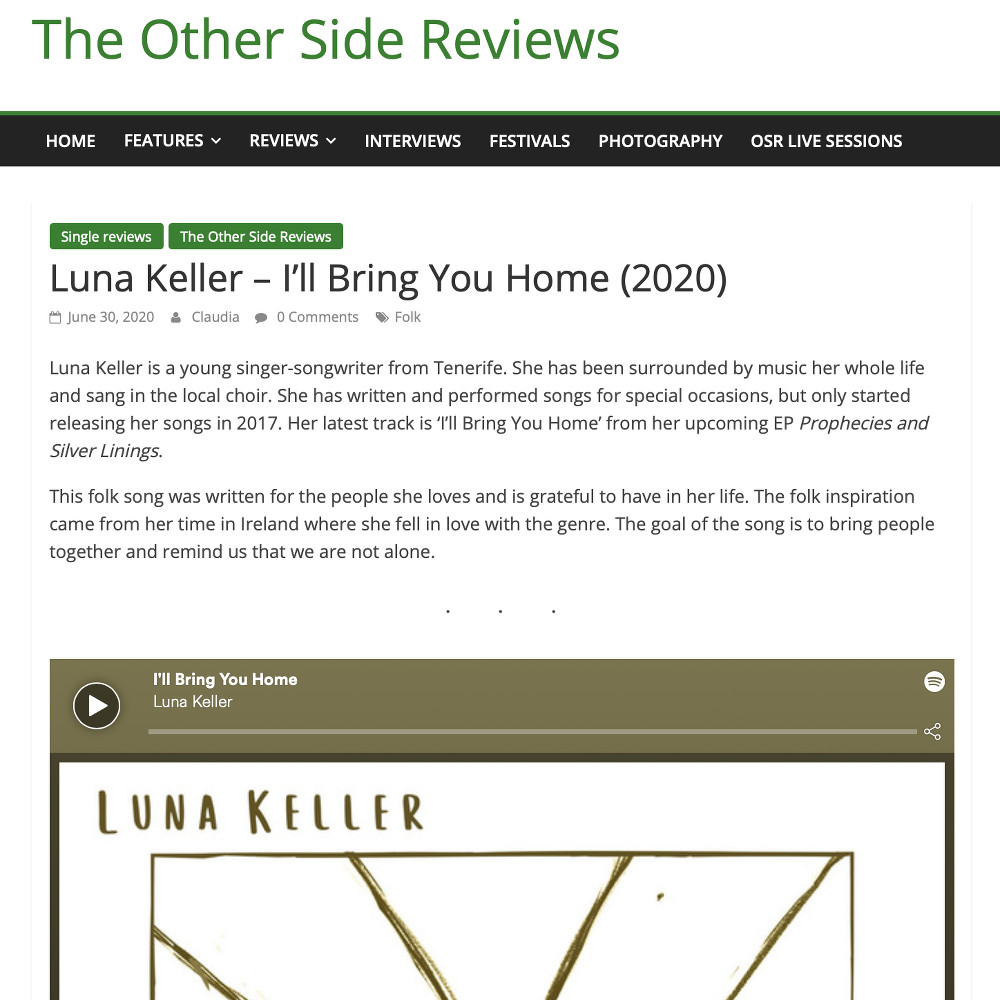 The Other Side Riefe about Luna Keller I'll bring you home