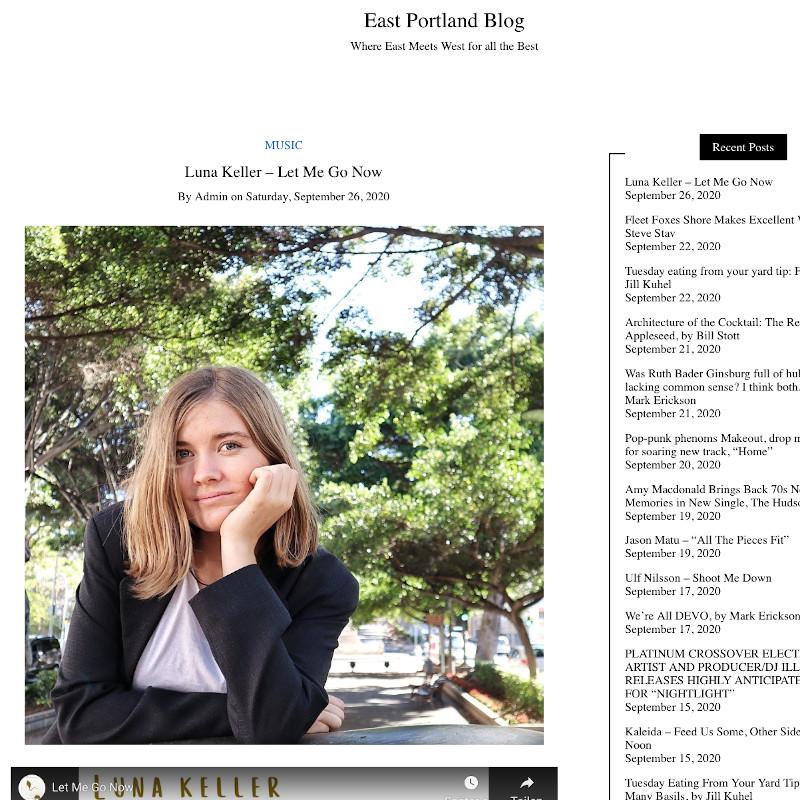 East Portland Blog - Let me go now - Luna Keller