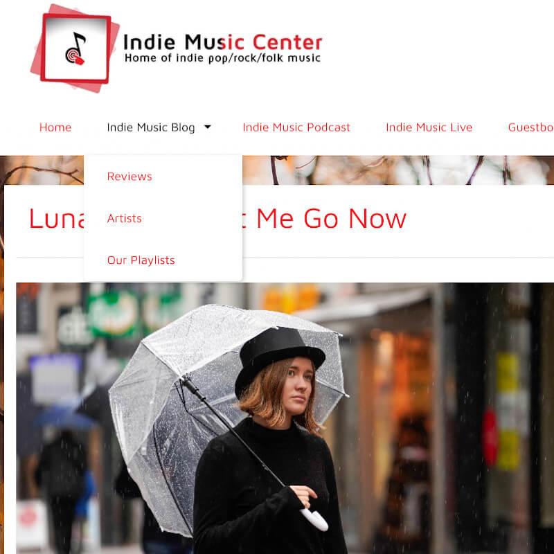 Indie Music Center Let me go now Luna Keller
