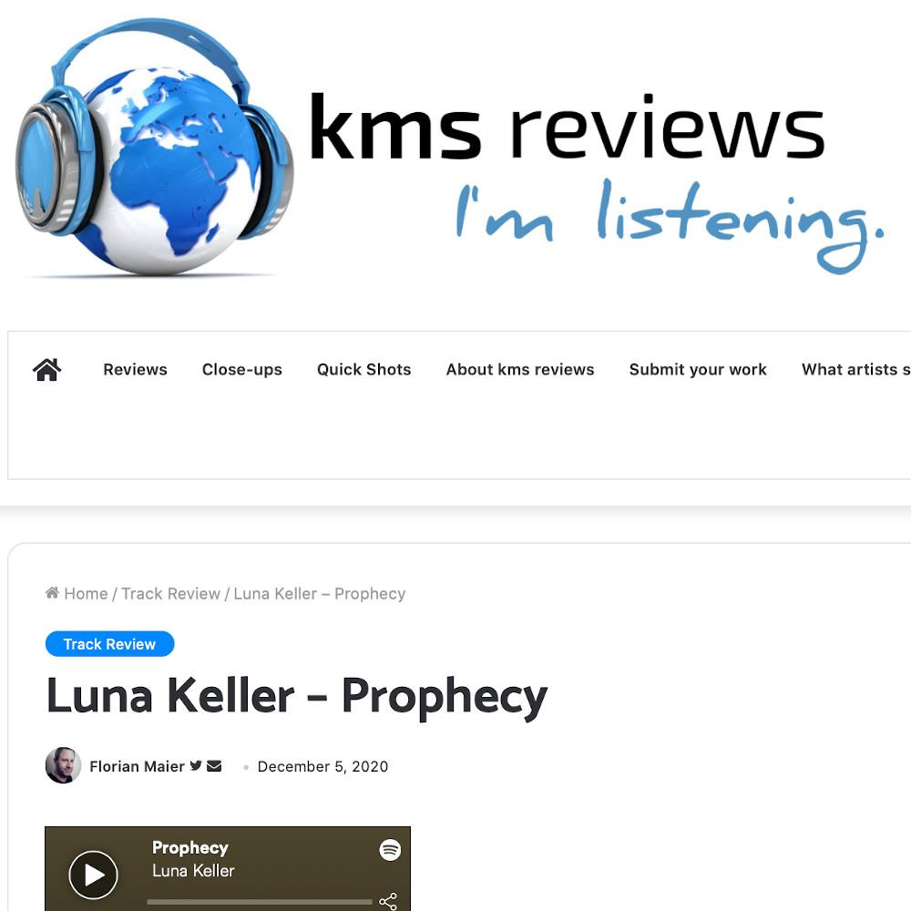 kms reviews about Prophecy - Luna Keller