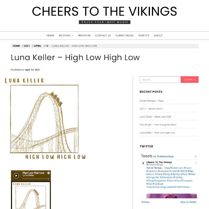 Cheers To The Vikings - High Low High Low - Luna Keller