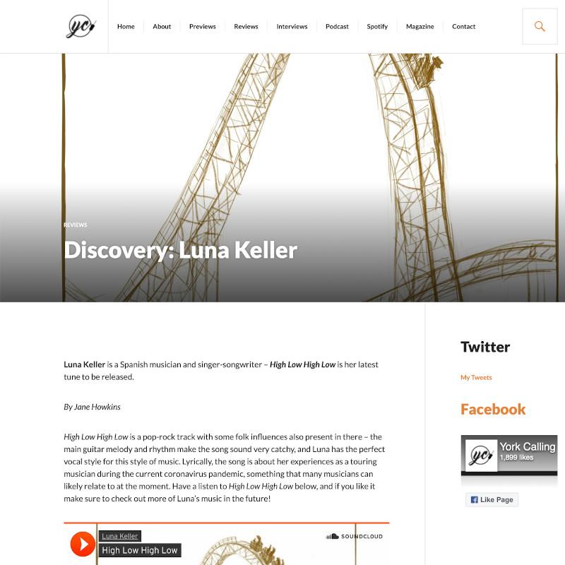 York Calling - High Low High Low - Luna Keller