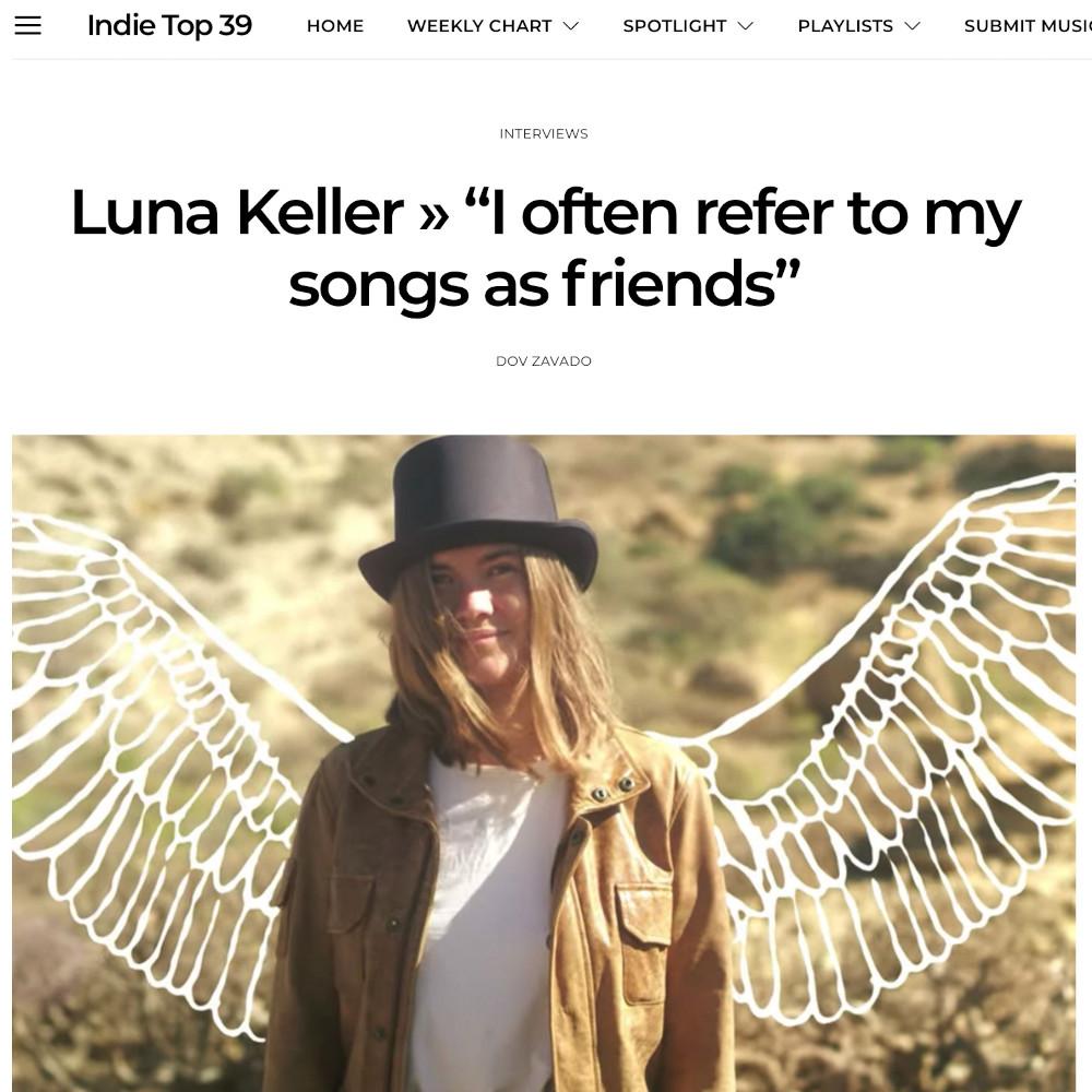 Indie Top 39 Interview Luna Keller