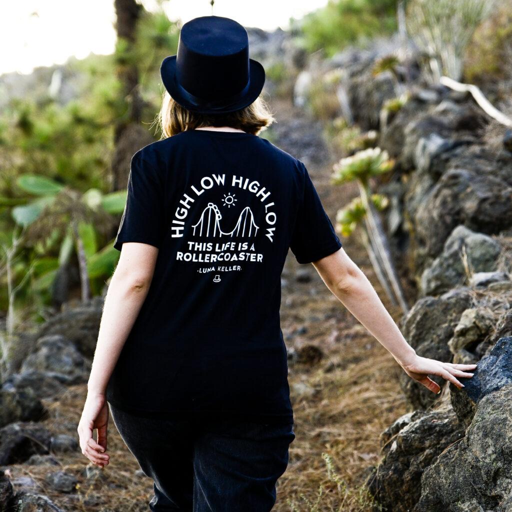 Luna Keller High Low High Low Black T-shirt