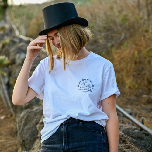 Luna Keller High Low High Low T-shirt white