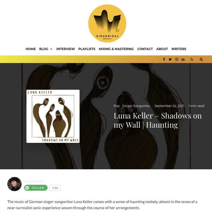 Shadows on my wall - Luna Keller - Sinusoidal Music